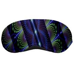 Fractal Blue Lines Colorful Sleeping Masks