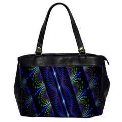 Fractal Blue Lines Colorful Office Handbags