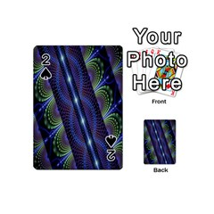 Fractal Blue Lines Colorful Playing Cards 54 (mini)