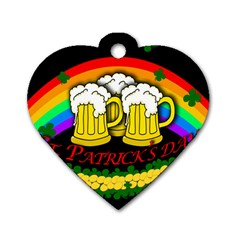 Beer mugs Dog Tag Heart (One Side)
