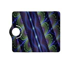 Fractal Blue Lines Colorful Kindle Fire HDX 8.9  Flip 360 Case