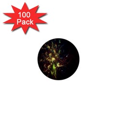 Fractal Flame Light Energy 1  Mini Buttons (100 pack)