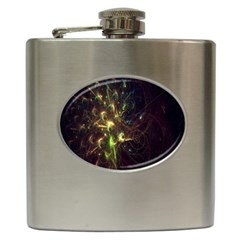 Fractal Flame Light Energy Hip Flask (6 oz)