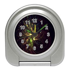 Fractal Flame Light Energy Travel Alarm Clocks