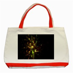 Fractal Flame Light Energy Classic Tote Bag (Red)