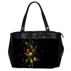 Fractal Flame Light Energy Office Handbags