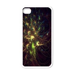 Fractal Flame Light Energy Apple iPhone 4 Case (White)