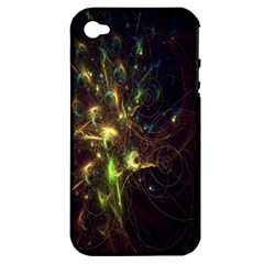Fractal Flame Light Energy Apple iPhone 4/4S Hardshell Case (PC+Silicone)