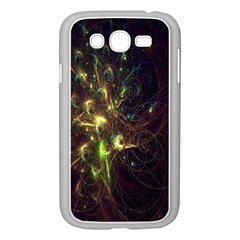 Fractal Flame Light Energy Samsung Galaxy Grand Duos I9082 Case (white)