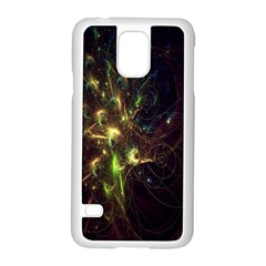 Fractal Flame Light Energy Samsung Galaxy S5 Case (white)