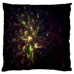 Fractal Flame Light Energy Large Flano Cushion Case (two Sides)