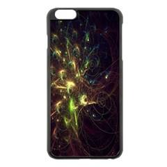 Fractal Flame Light Energy Apple iPhone 6 Plus/6S Plus Black Enamel Case
