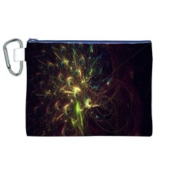 Fractal Flame Light Energy Canvas Cosmetic Bag (XL)