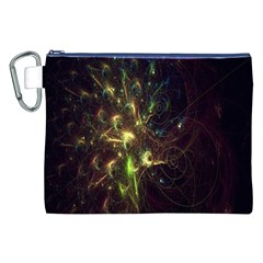 Fractal Flame Light Energy Canvas Cosmetic Bag (XXL)