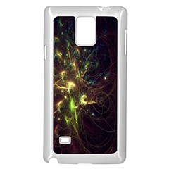 Fractal Flame Light Energy Samsung Galaxy Note 4 Case (White)