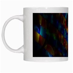 Fractal Digital Art White Mugs