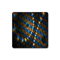 Fractal Digital Art Square Magnet