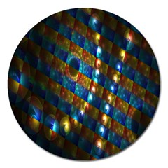 Fractal Digital Art Magnet 5  (Round)