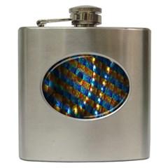 Fractal Digital Art Hip Flask (6 oz)