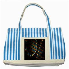 Fractal Digital Art Striped Blue Tote Bag