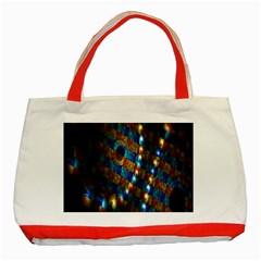Fractal Digital Art Classic Tote Bag (Red)