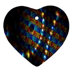Fractal Digital Art Heart Ornament (Two Sides)
