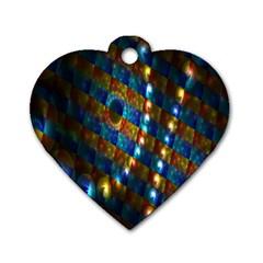 Fractal Digital Art Dog Tag Heart (Two Sides)