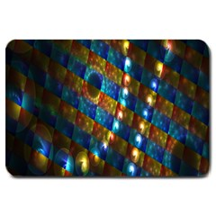 Fractal Digital Art Large Doormat