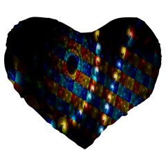 Fractal Digital Art Large 19  Premium Heart Shape Cushions