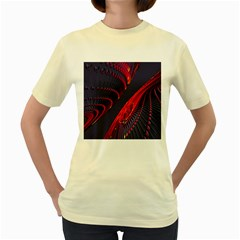 Fractal Fractal Art Digital Art Women s Yellow T-Shirt