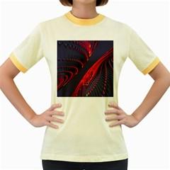 Fractal Fractal Art Digital Art Women s Fitted Ringer T-Shirts
