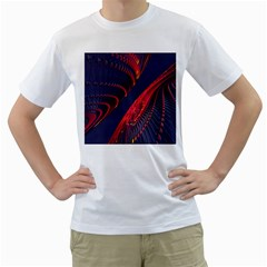 Fractal Fractal Art Digital Art Men s T-Shirt (White) (Two Sided)