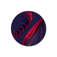 Fractal Fractal Art Digital Art Rubber Round Coaster (4 pack)