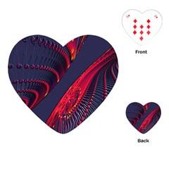 Fractal Fractal Art Digital Art Playing Cards (Heart)