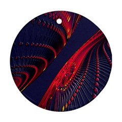 Fractal Fractal Art Digital Art Round Ornament (two Sides)