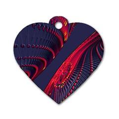 Fractal Fractal Art Digital Art Dog Tag Heart (Two Sides)