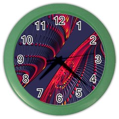 Fractal Fractal Art Digital Art Color Wall Clocks