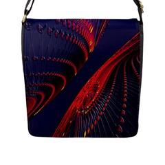 Fractal Fractal Art Digital Art Flap Messenger Bag (l)