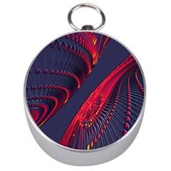 Fractal Fractal Art Digital Art Silver Compasses