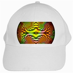 Fractals Ball About Abstract White Cap