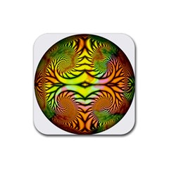Fractals Ball About Abstract Rubber Coaster (Square)