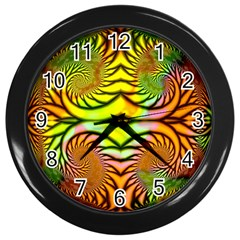Fractals Ball About Abstract Wall Clocks (black)