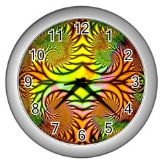 Fractals Ball About Abstract Wall Clocks (Silver)