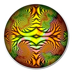 Fractals Ball About Abstract Magnet 5  (Round)