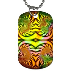Fractals Ball About Abstract Dog Tag (Two Sides)