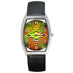 Fractals Ball About Abstract Barrel Style Metal Watch