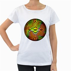 Fractals Ball About Abstract Women s Loose-Fit T-Shirt (White)