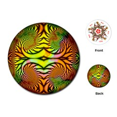 Fractals Ball About Abstract Playing Cards (Round)