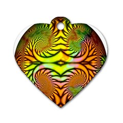 Fractals Ball About Abstract Dog Tag Heart (two Sides)