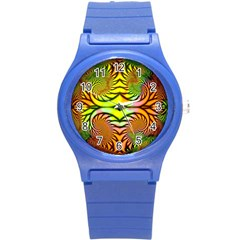 Fractals Ball About Abstract Round Plastic Sport Watch (S)